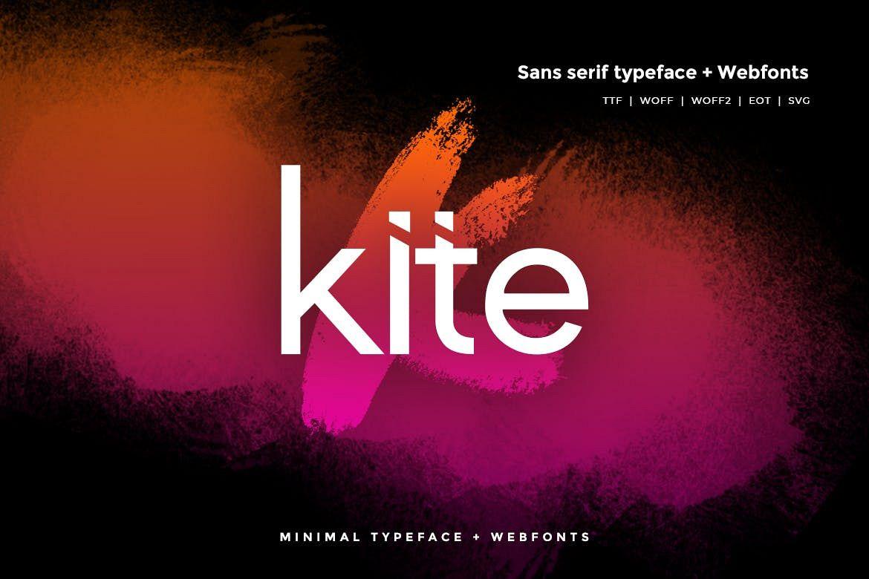 Kite - Modern Typeface WebFonts example image 1