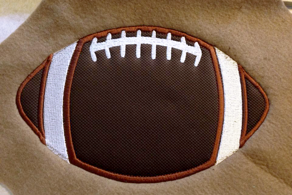 Football Applique Embroidery Design