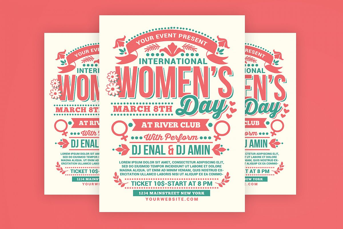 Womens Day International Flyer example image 1