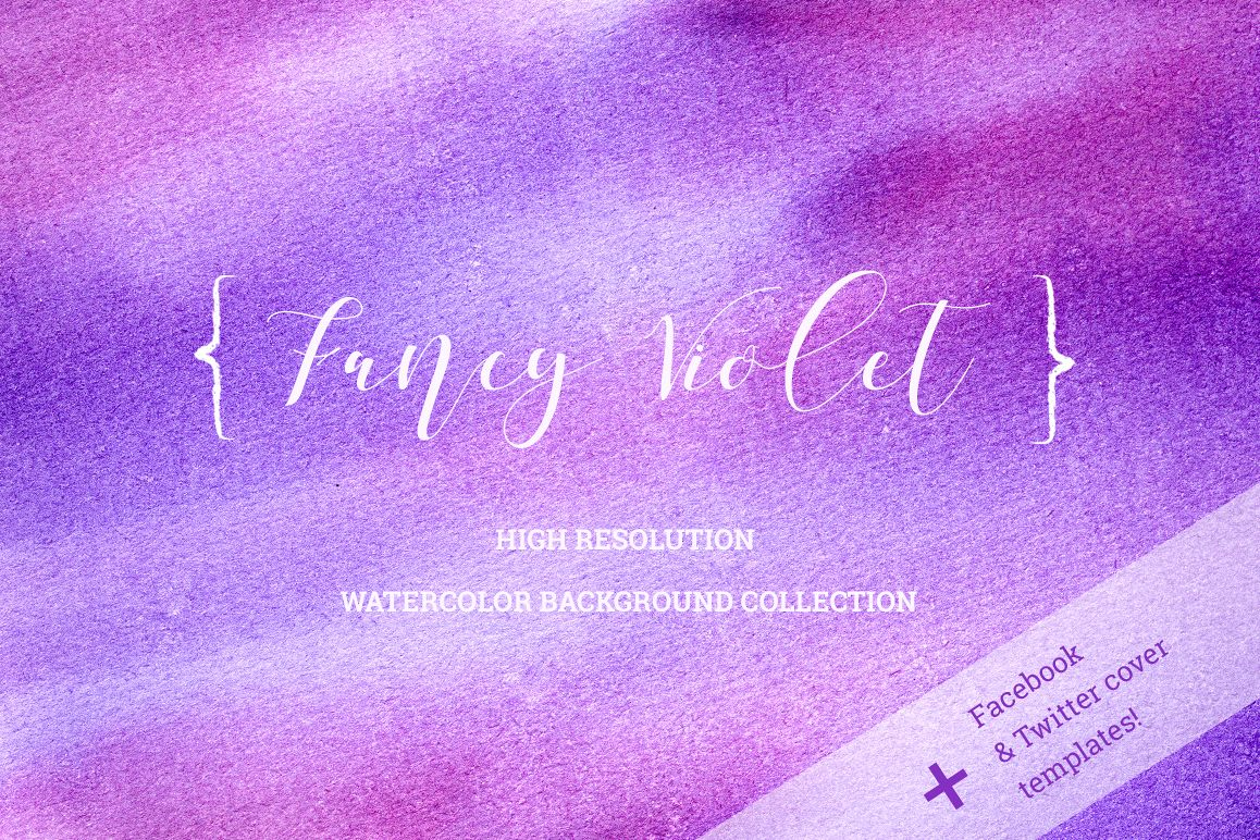 Fancy Violet - watercolor backgrounds example image 1