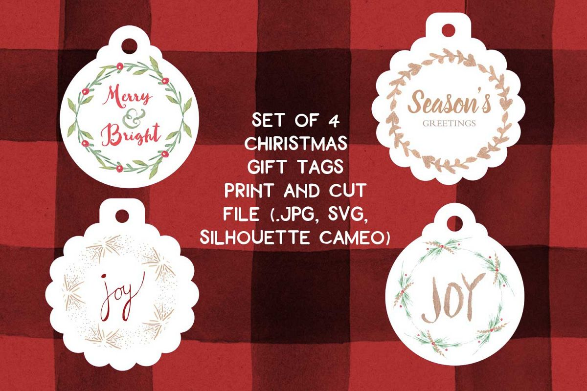 print and cut christmas gift tags