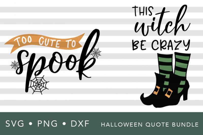 Halloween SVG Quote Bundle example image 1