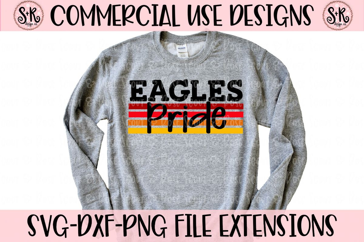 Eagles Pride SVG DXF PNG example image 1