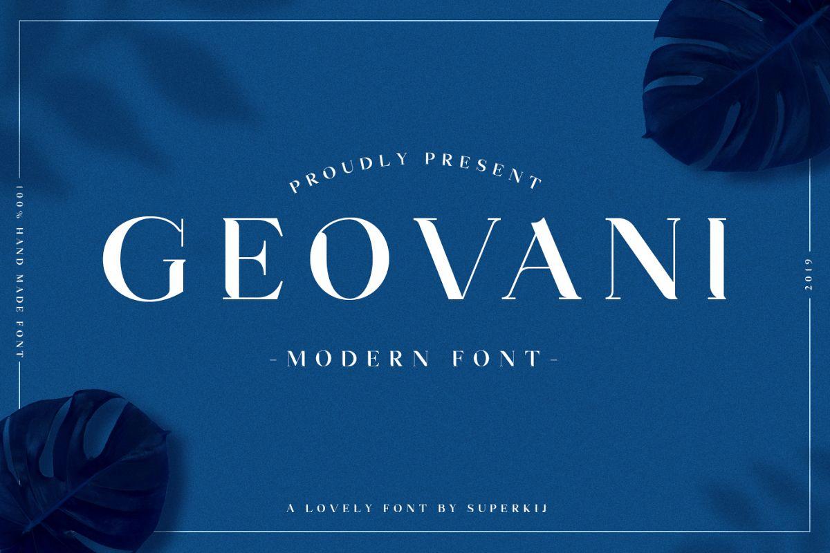 Geovani | Modern Font example image 1