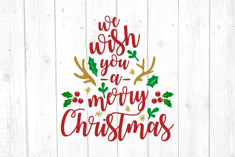We wish you a Merry Christmas Svg, Christmas, Christmas Svg example image 1