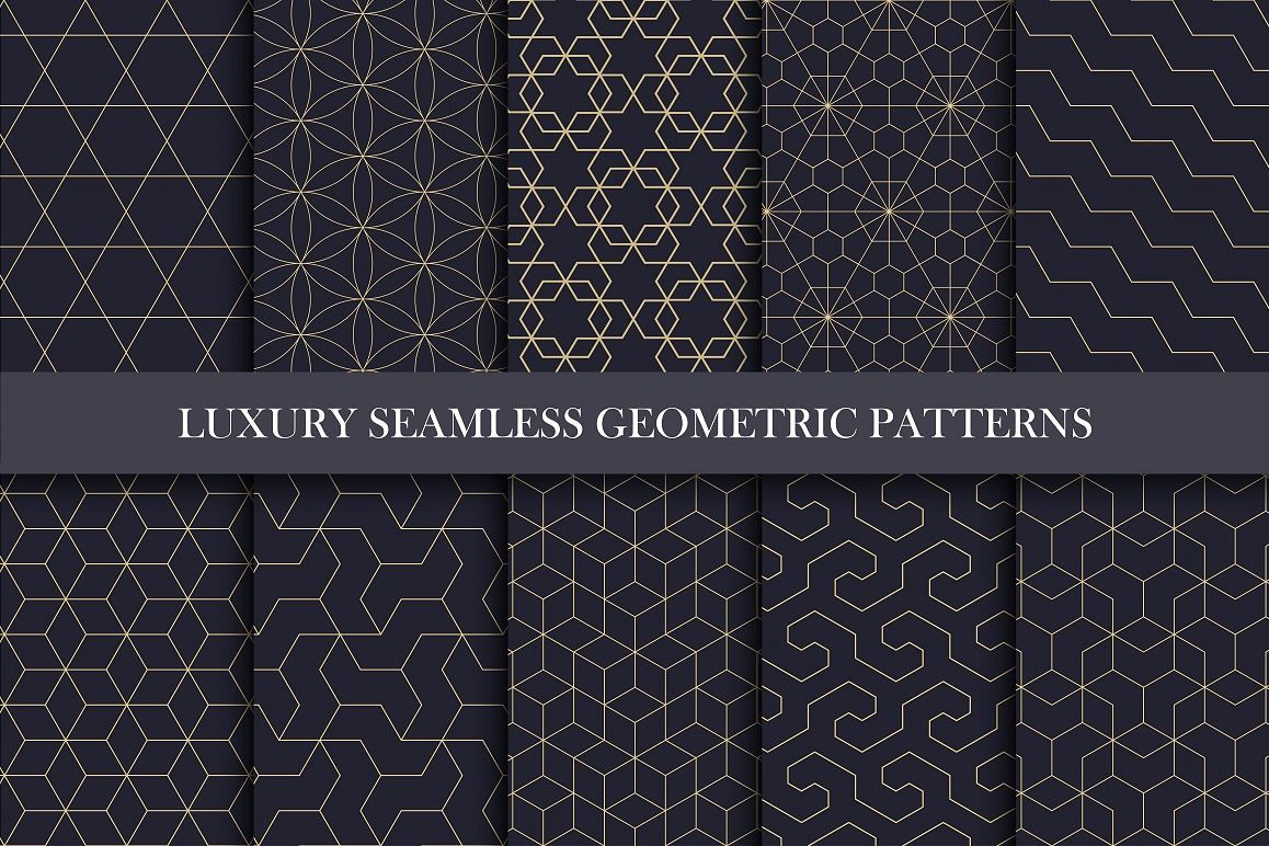 Ornamental luxury seamless patterns example image 1