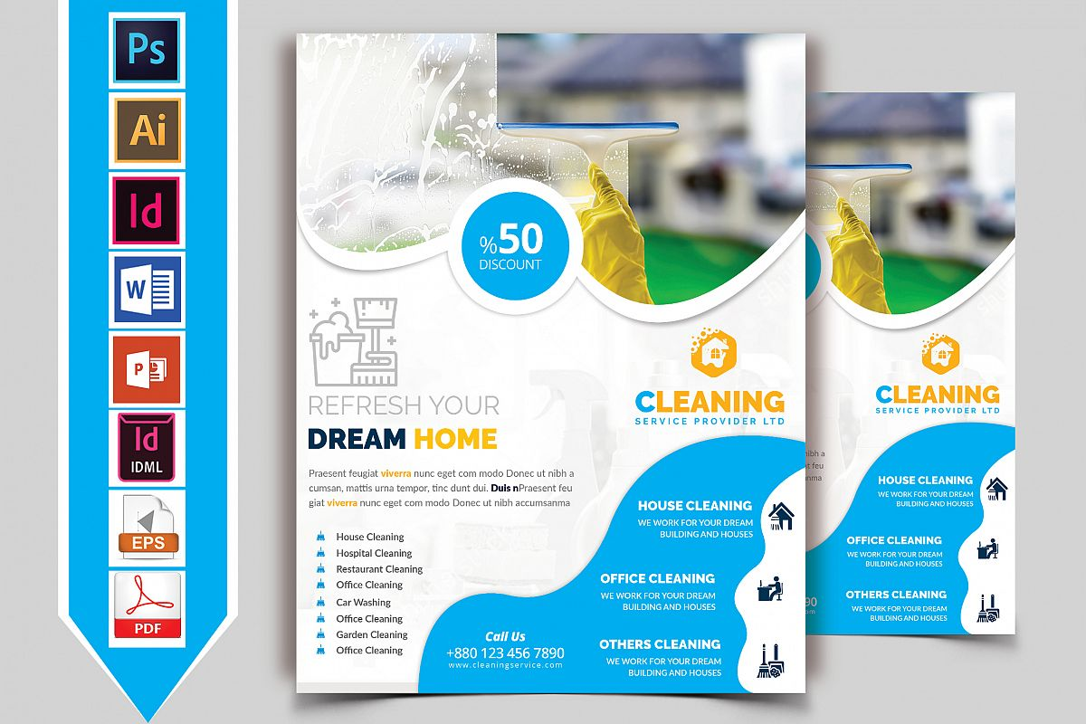 Cleaning Service Flyer Vol-04 example image 1