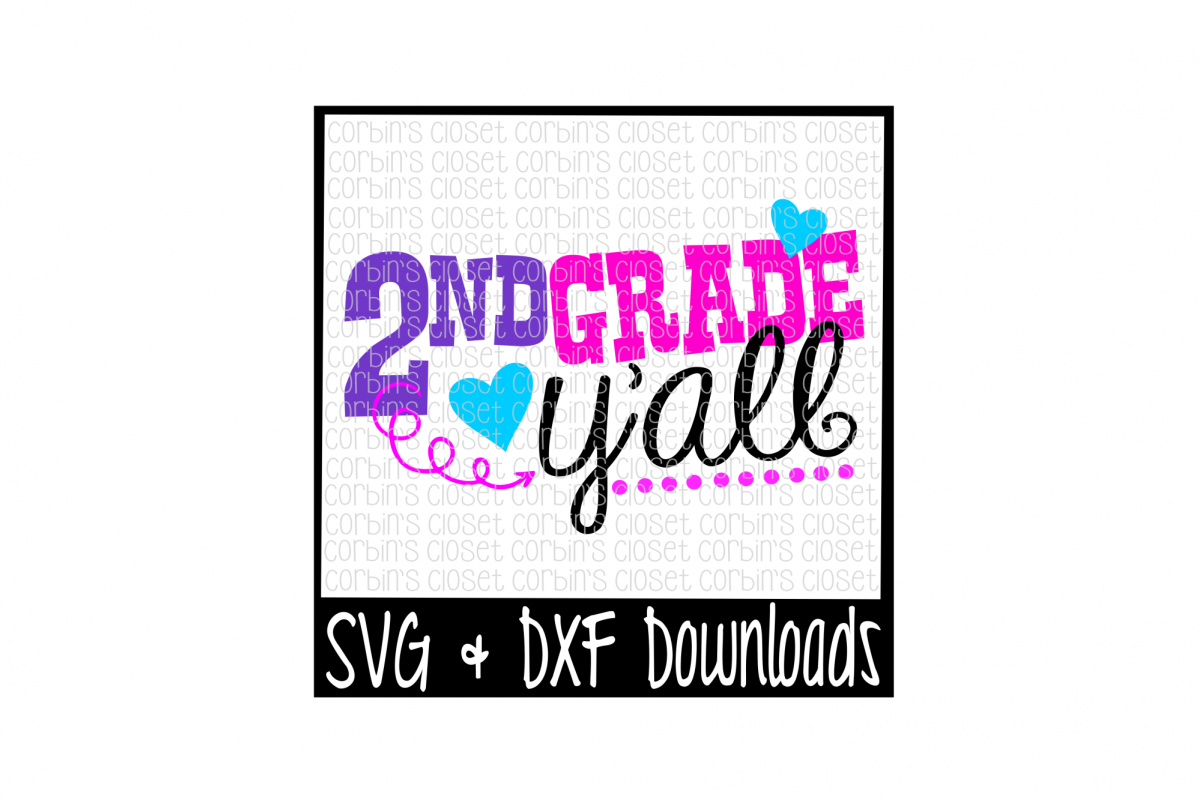 2nd Grade Y'all Cut File example image 1