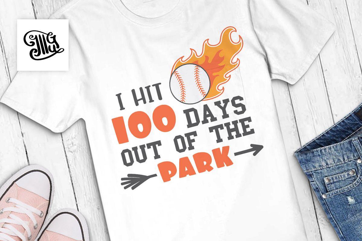 100 days of school baseball svg example image 1