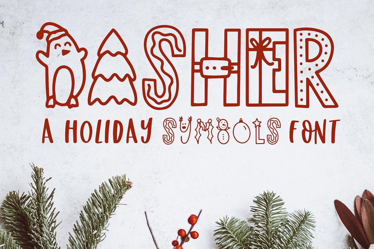 Dasher, A Christmas Holiday Symbols Font example image 1