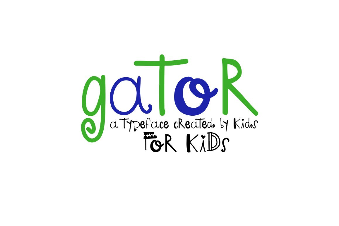 Gator -  A font by kids, for kids example image