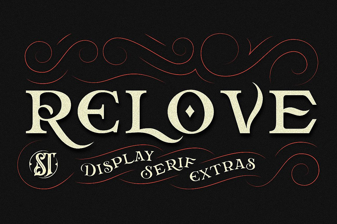Relove Typeface + Extras example image 1