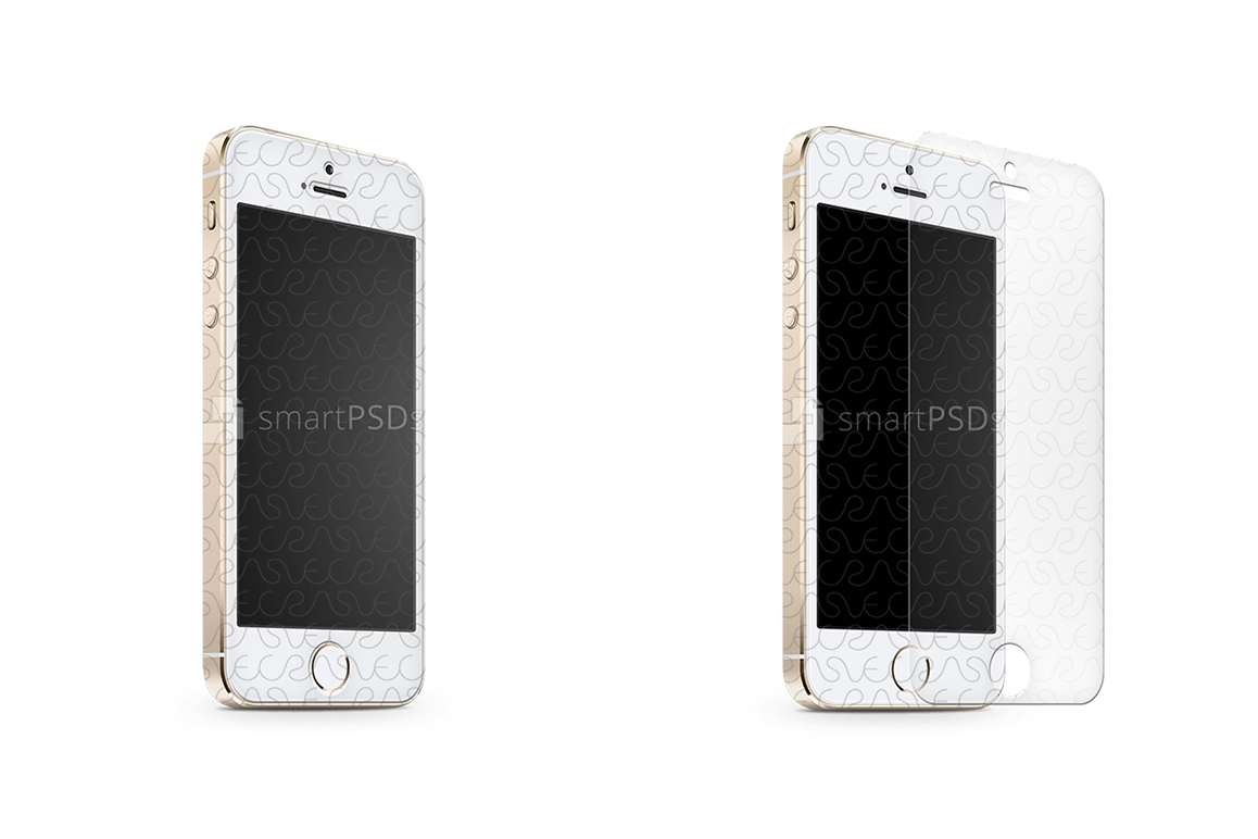 Apple IPhone 5S Tempered Glass Template 2013 Example Image 1