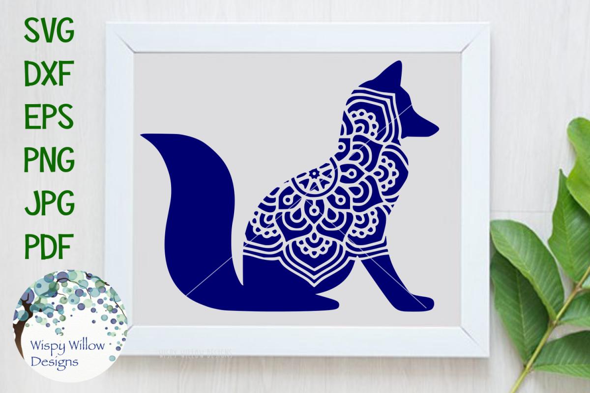 Fox Mandala | Animal Mandala SVG Cut File example image 1