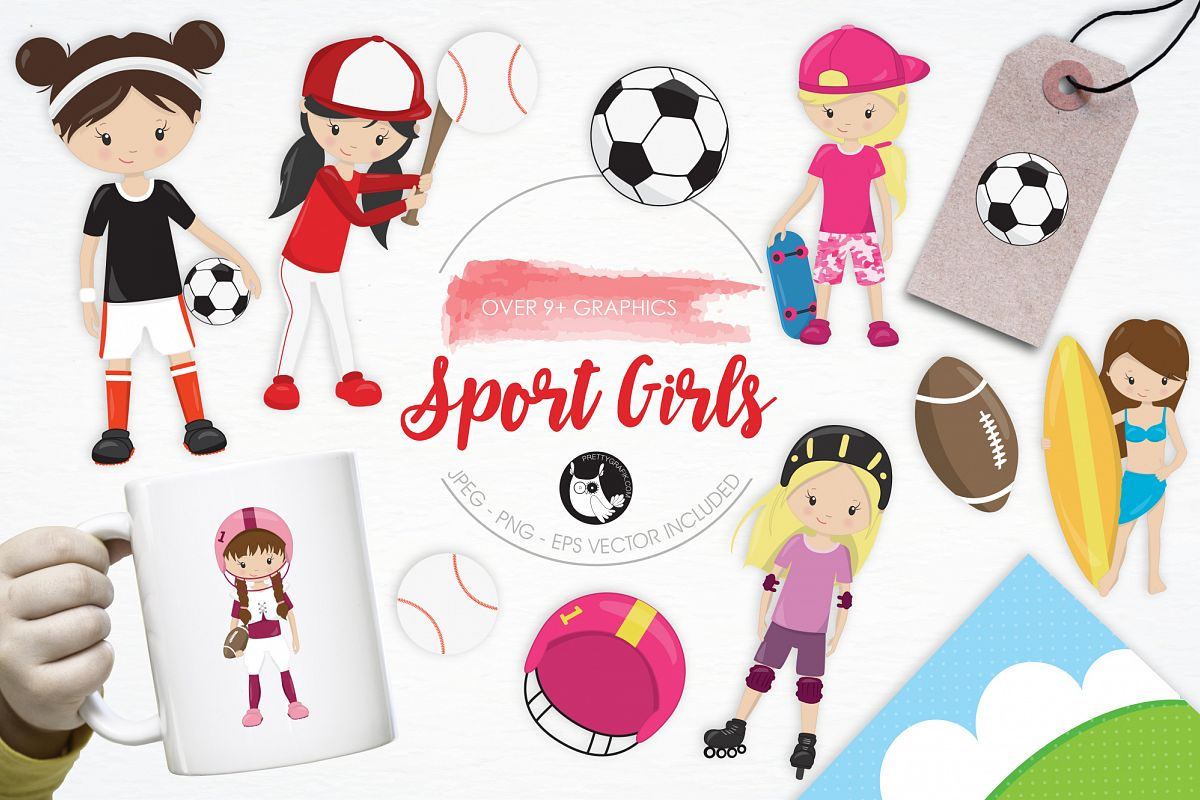 Sport Girls graphics and illustrations example image 1