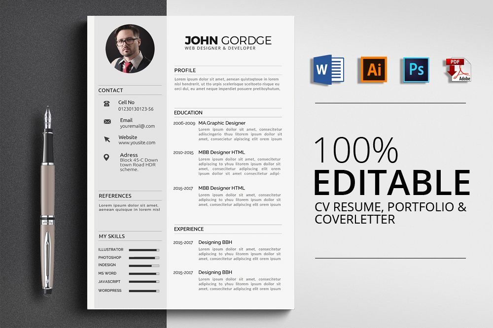 Cv Resume Office Templates example image 1