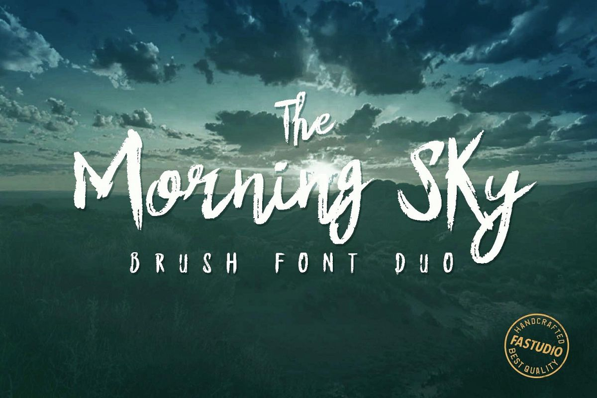 The Morning Sky Font Duo example image 1