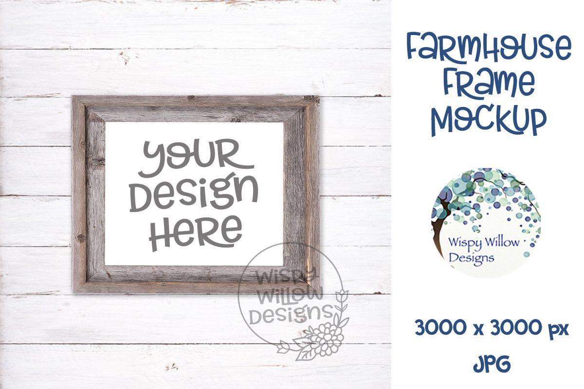 8x10 Horizontal Farmhouse Photo Frame Mockup example image 1