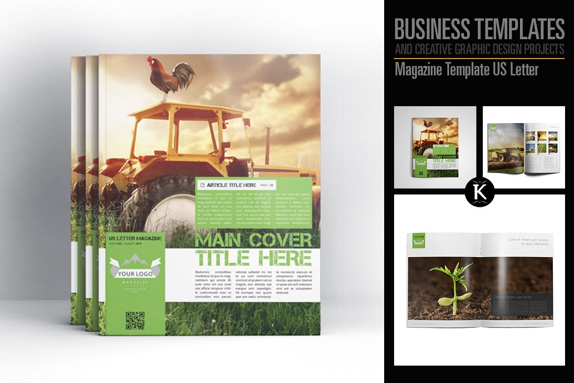 Magazine Template US Letter example image 1