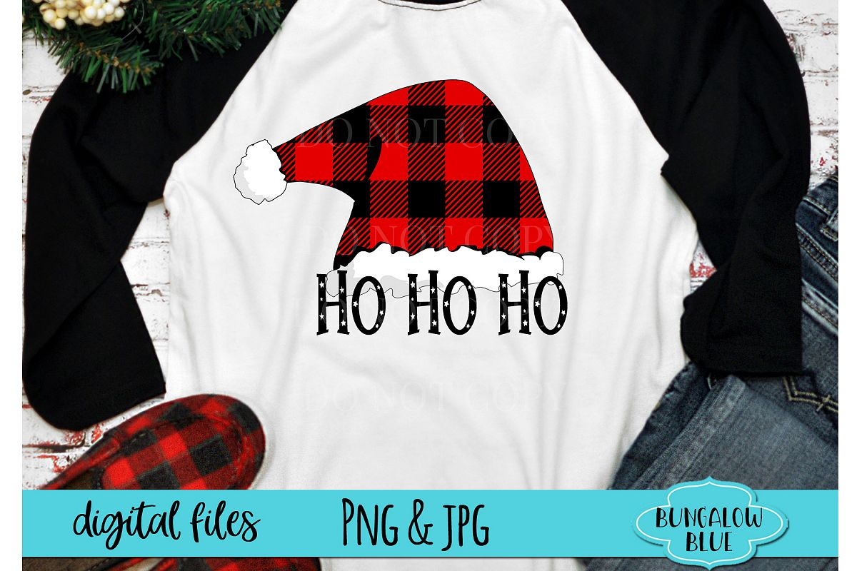 Ho Ho Ho Santa Hats Digital Download example image 1