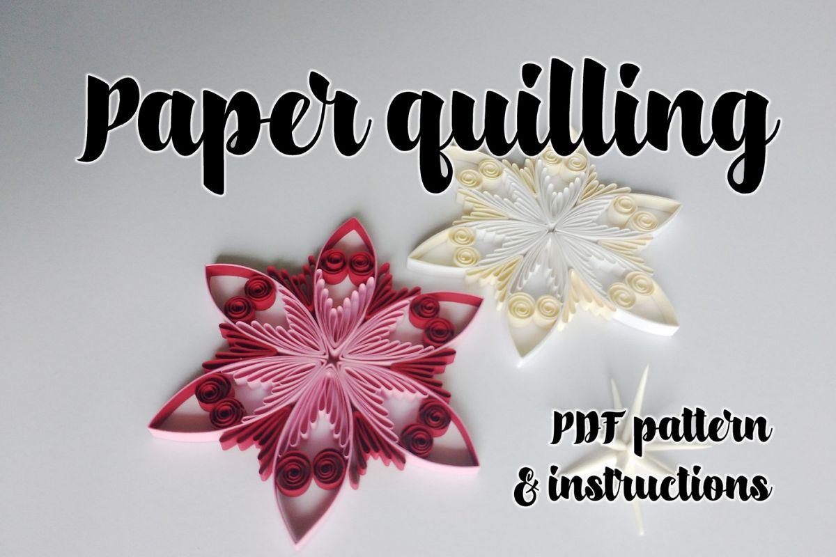 Quilling Pattern Step By Step Diagram Guided Tutorial Qd13