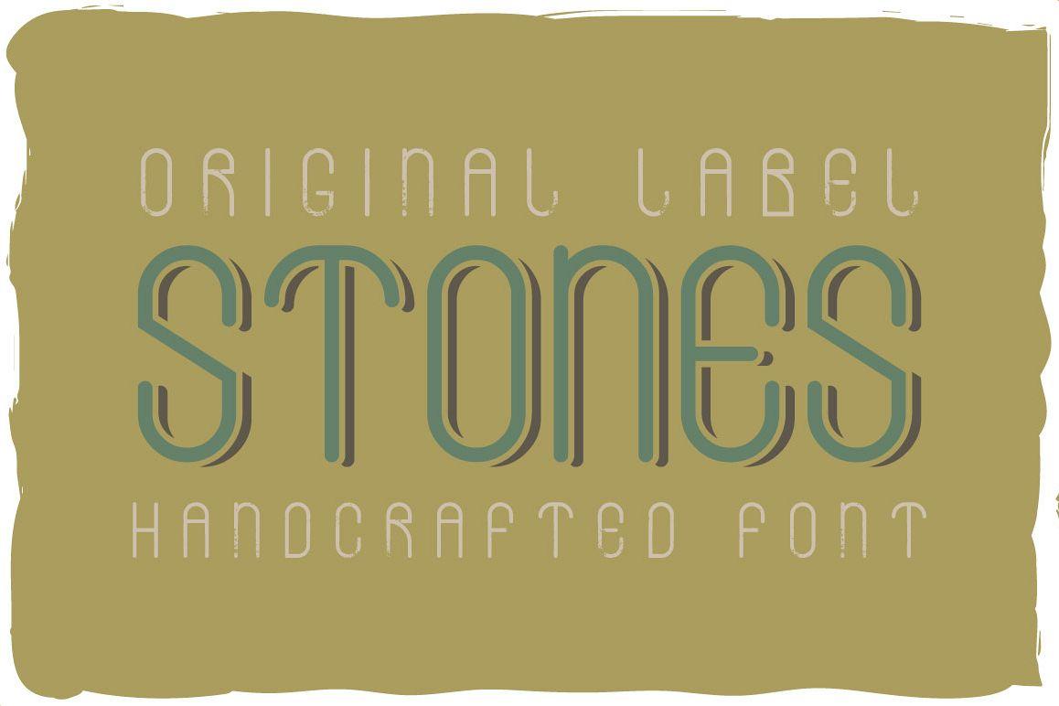 Stones typeface example image 1