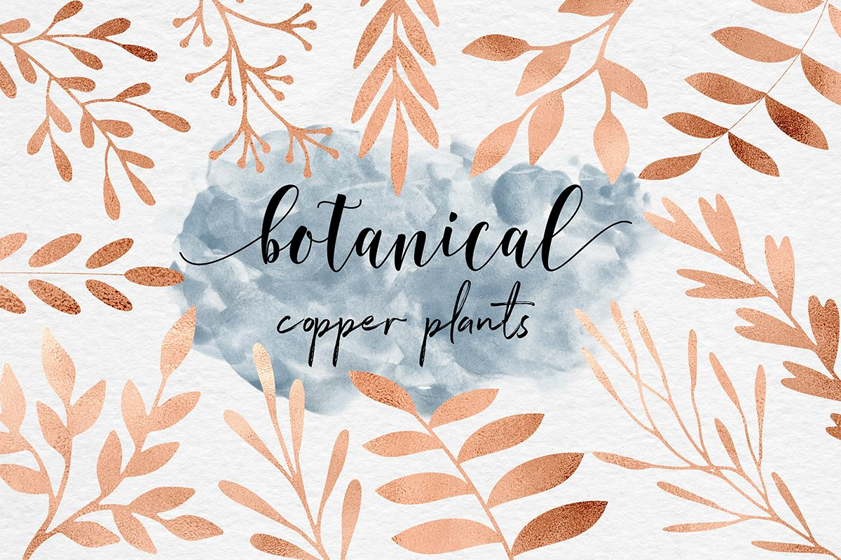 Hand Painted Copper Plants example image 1