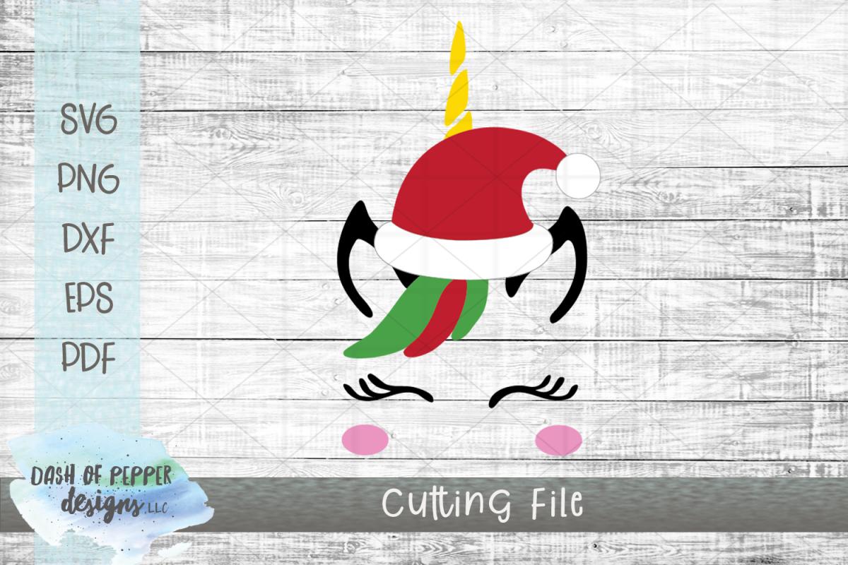 Santa Unicorn SVG - A Christmas SVG example image 1