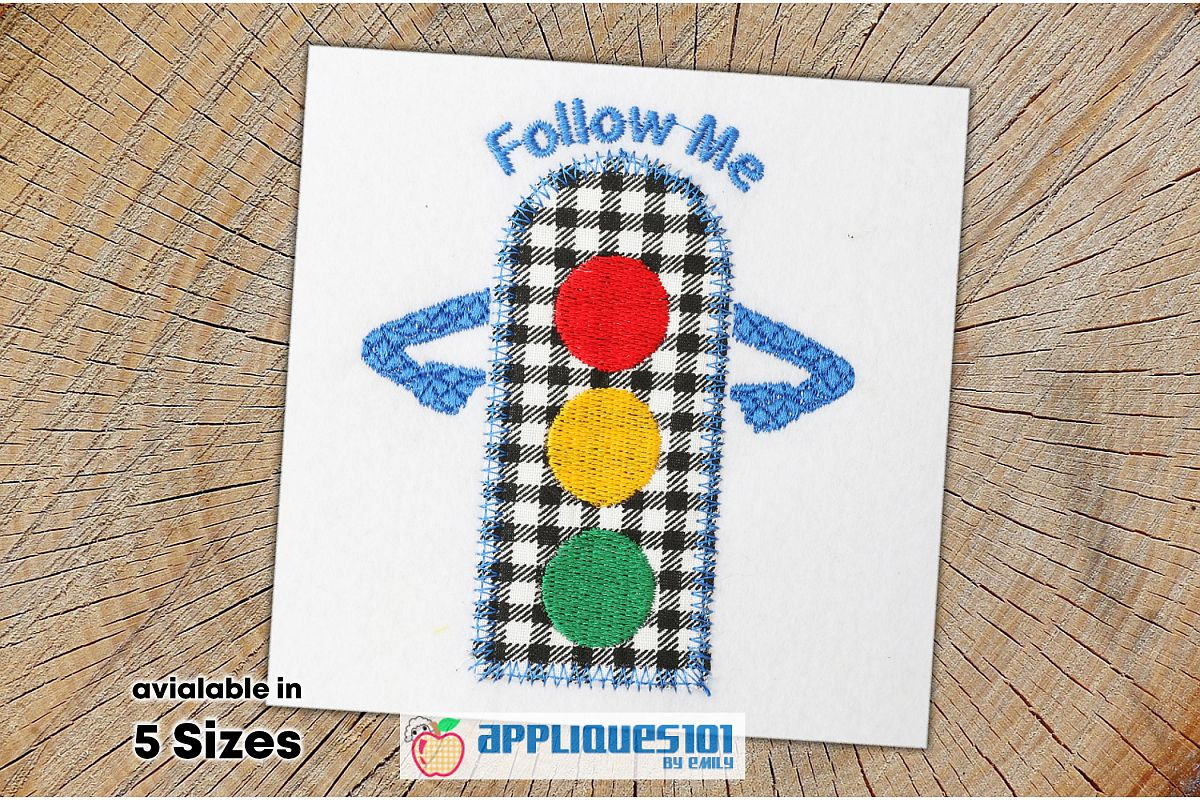 Traffic Signal Embroidery Applique Design - Signal example image 1