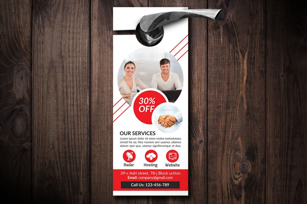 Business Solutions Consultant Door Hangers example image 1