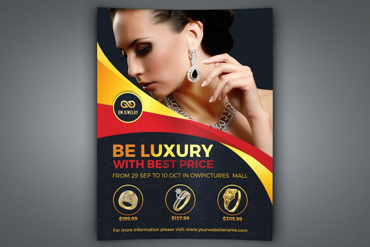 Jewelry Flyer Template example image 1