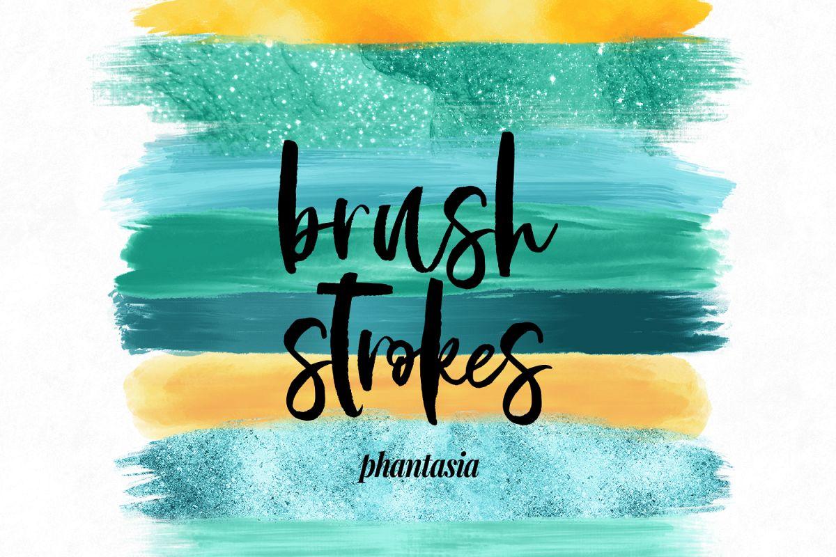 Surfer Girl Brush Strokes example image 1