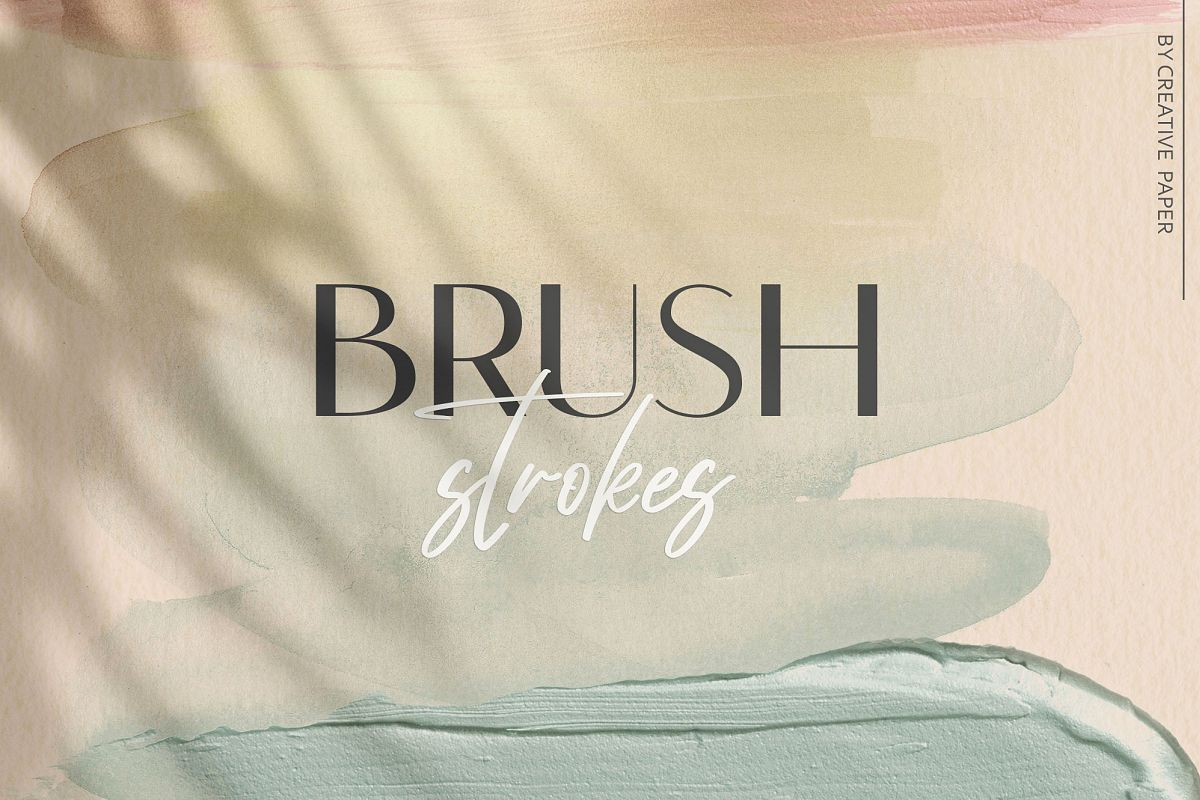 Brush Strokes - Rose Gold Watercolor Backgrounds example image 1