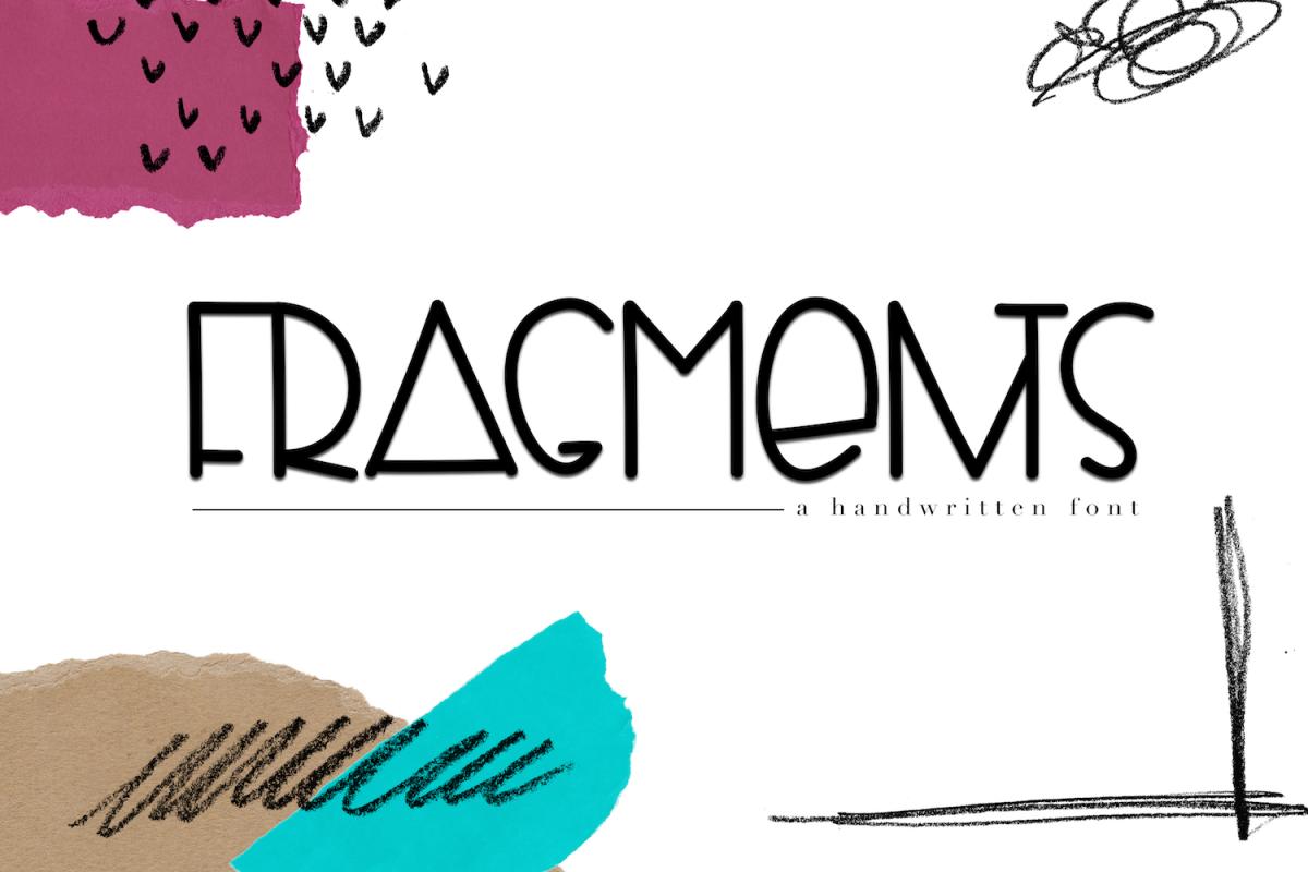 Fragments - A Fun Handwritten Font example image 1
