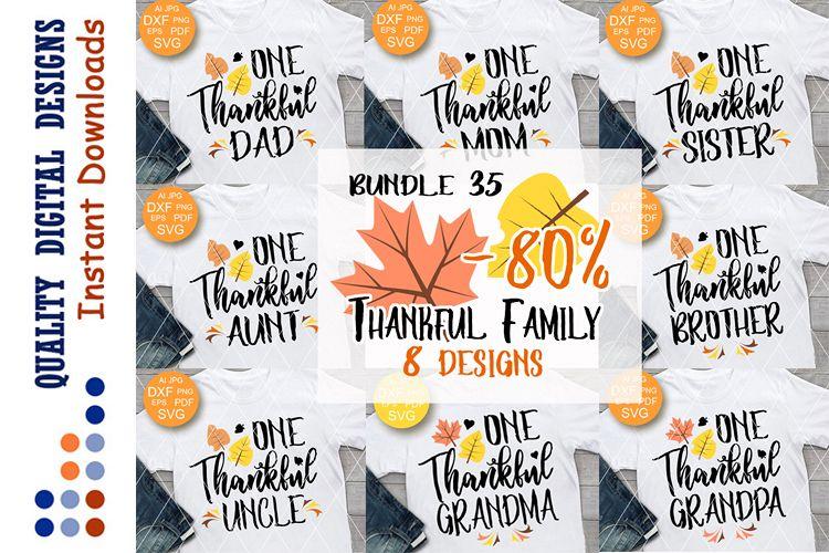 Thankful BUNDLE 35 svg files sayings Thanksgiving example image 1