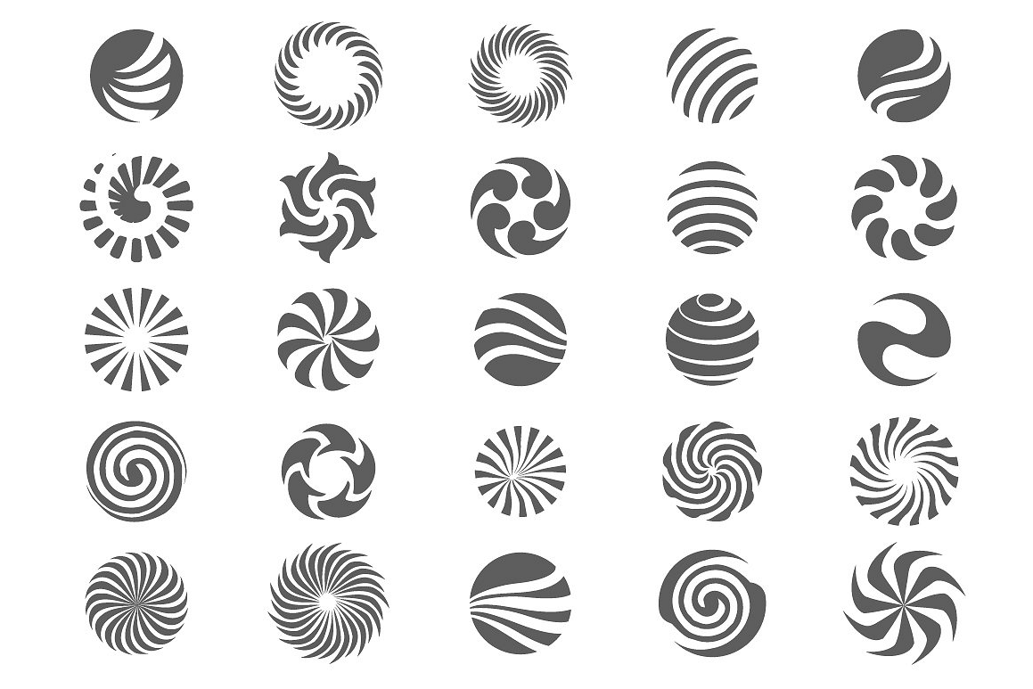 25 Abstract circle symbols. example image 1