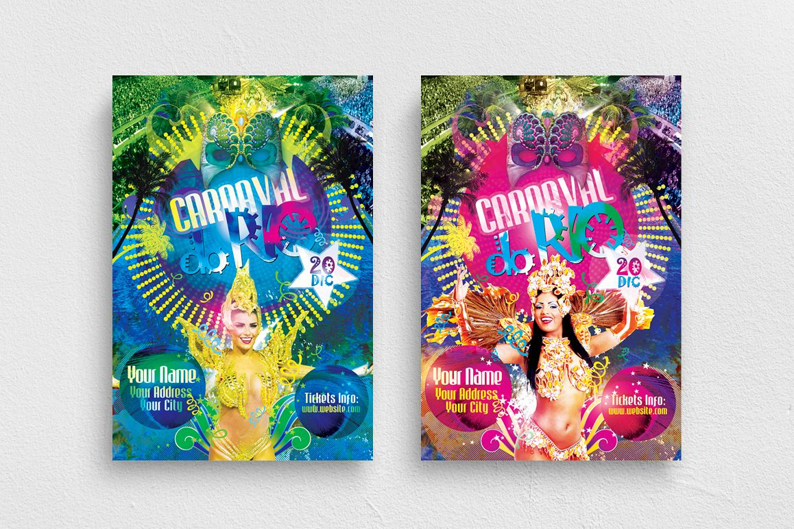 Carnaval Do Rio Flyer Template example image 1
