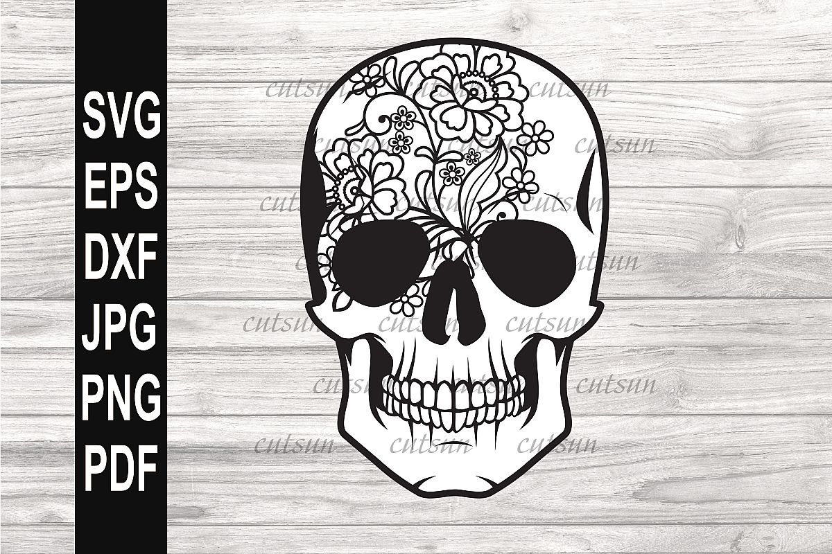Sugarskull SVG | Sugarskull Lace svg example image 1