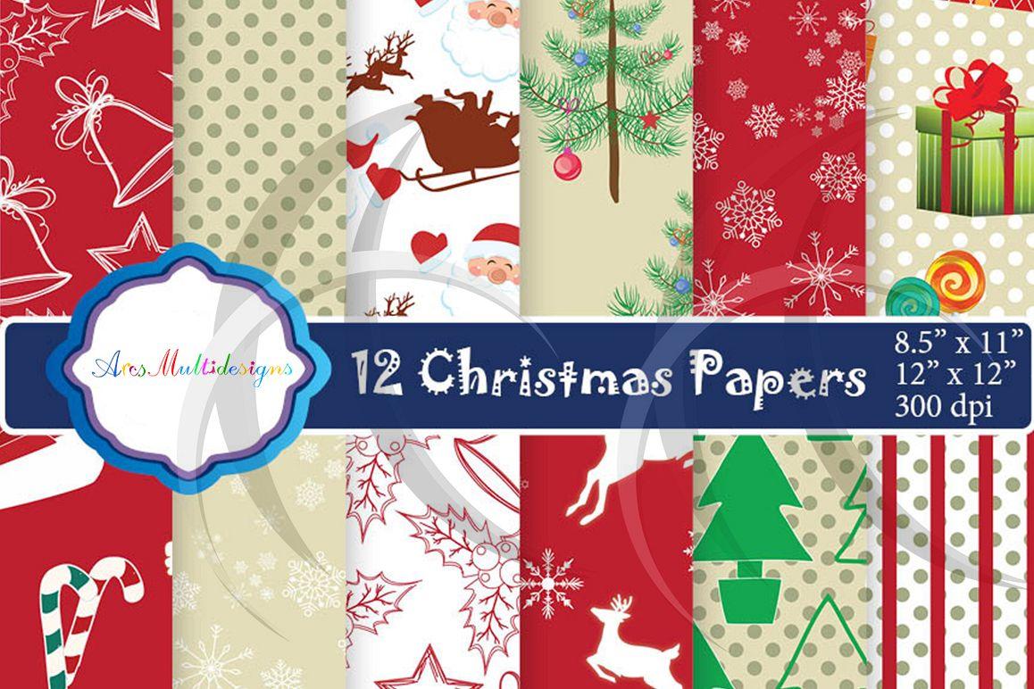 Christmas Gift Wrapper Design.Christmas Digital Pattern Christmas Paper Digital Papers Christmas Digital Paper Gift Wrapper High Quality Digital Set 12 X 12