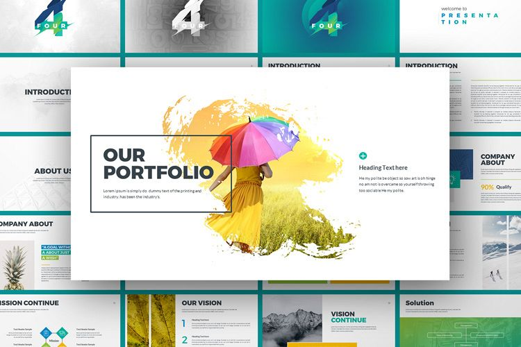 Four Business Powerpoint Presentation Template example image 1