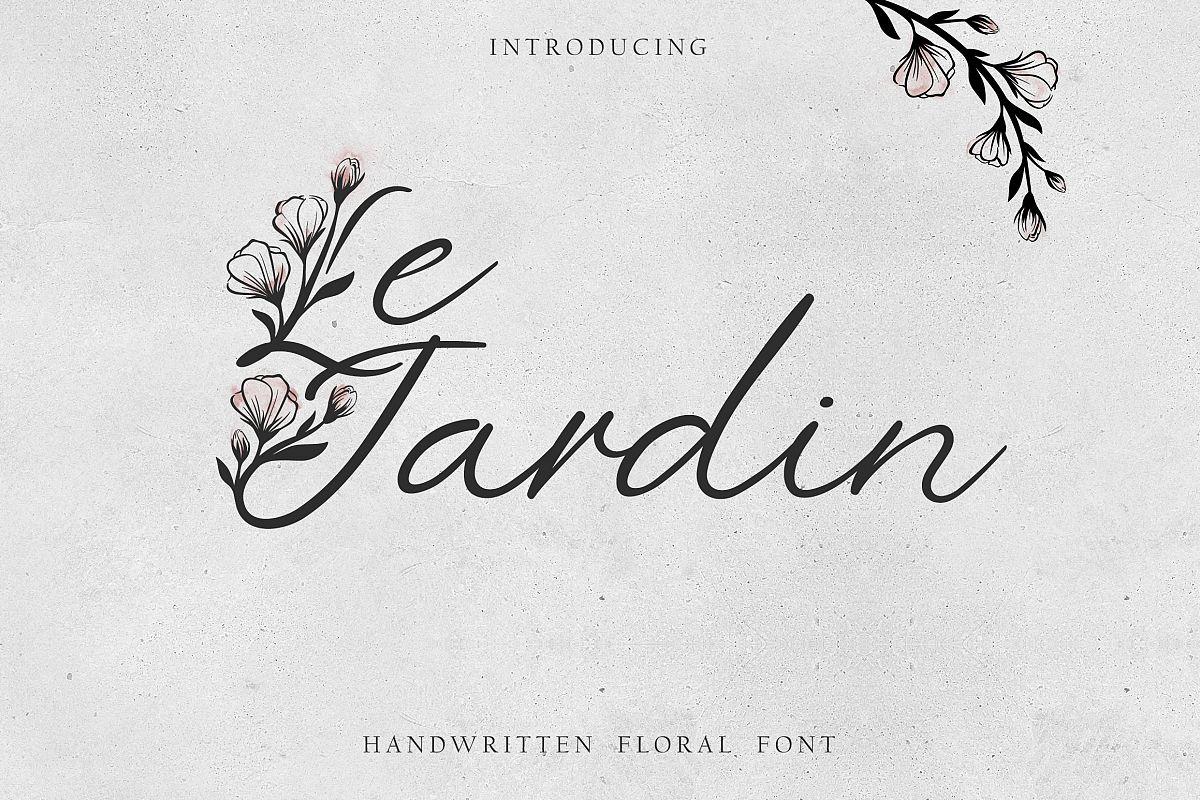 'Le Jardin' Floral Font example image 1