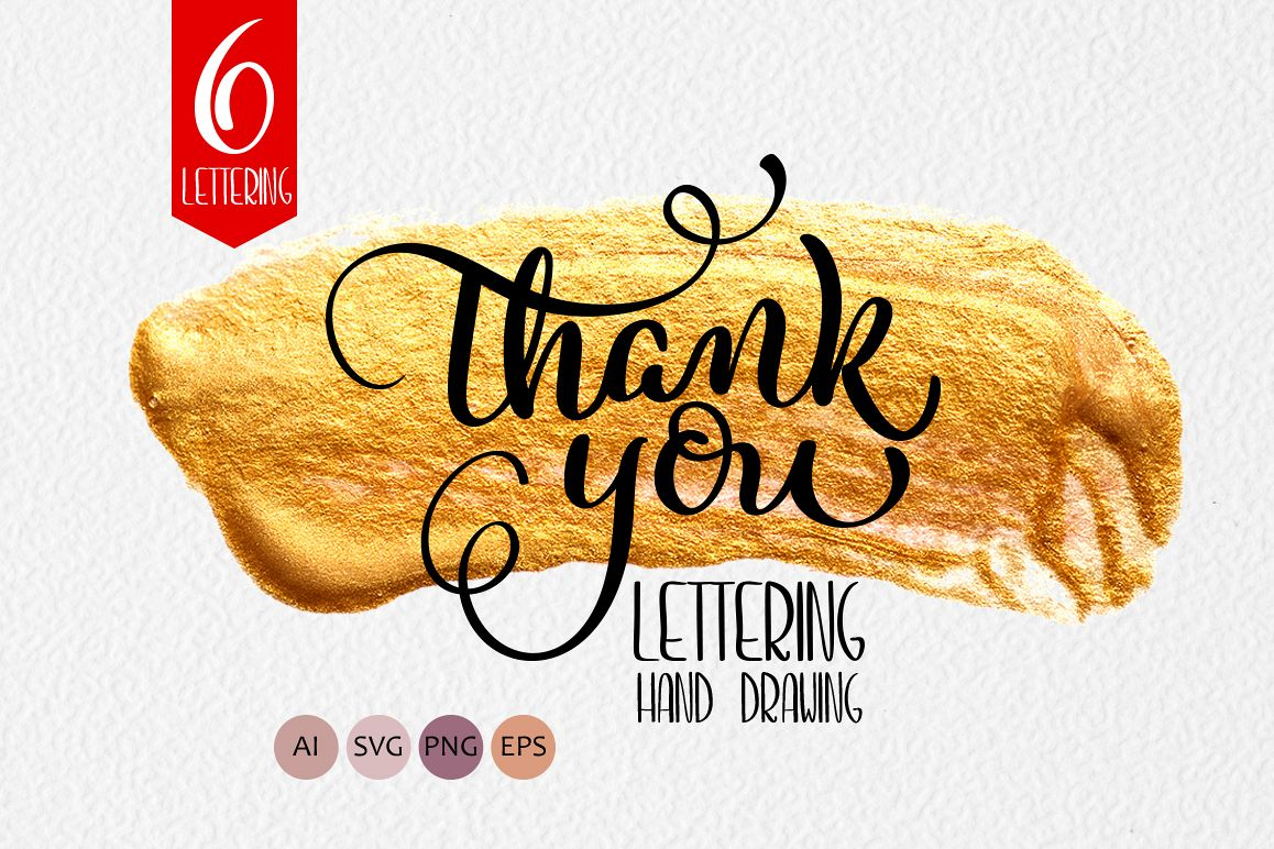 Thank You Calligraphy Lettering Collection example image 1