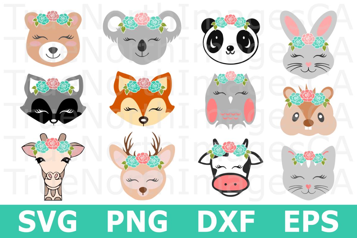 Boho Animal Bundle - An Animal SVG Cut File Bundle example image 1