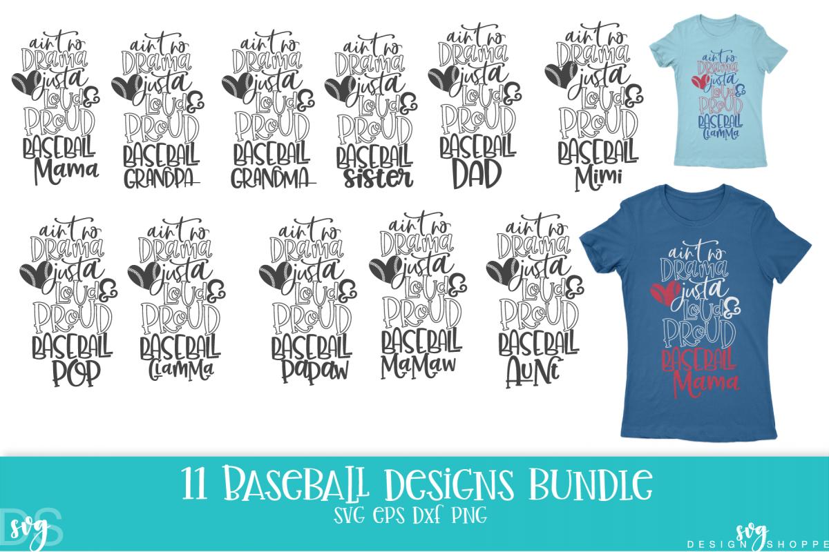 Baseball, Mom, Wife, Grandma, Grandpa, SVG, PNG, DXF, EPS example image 1
