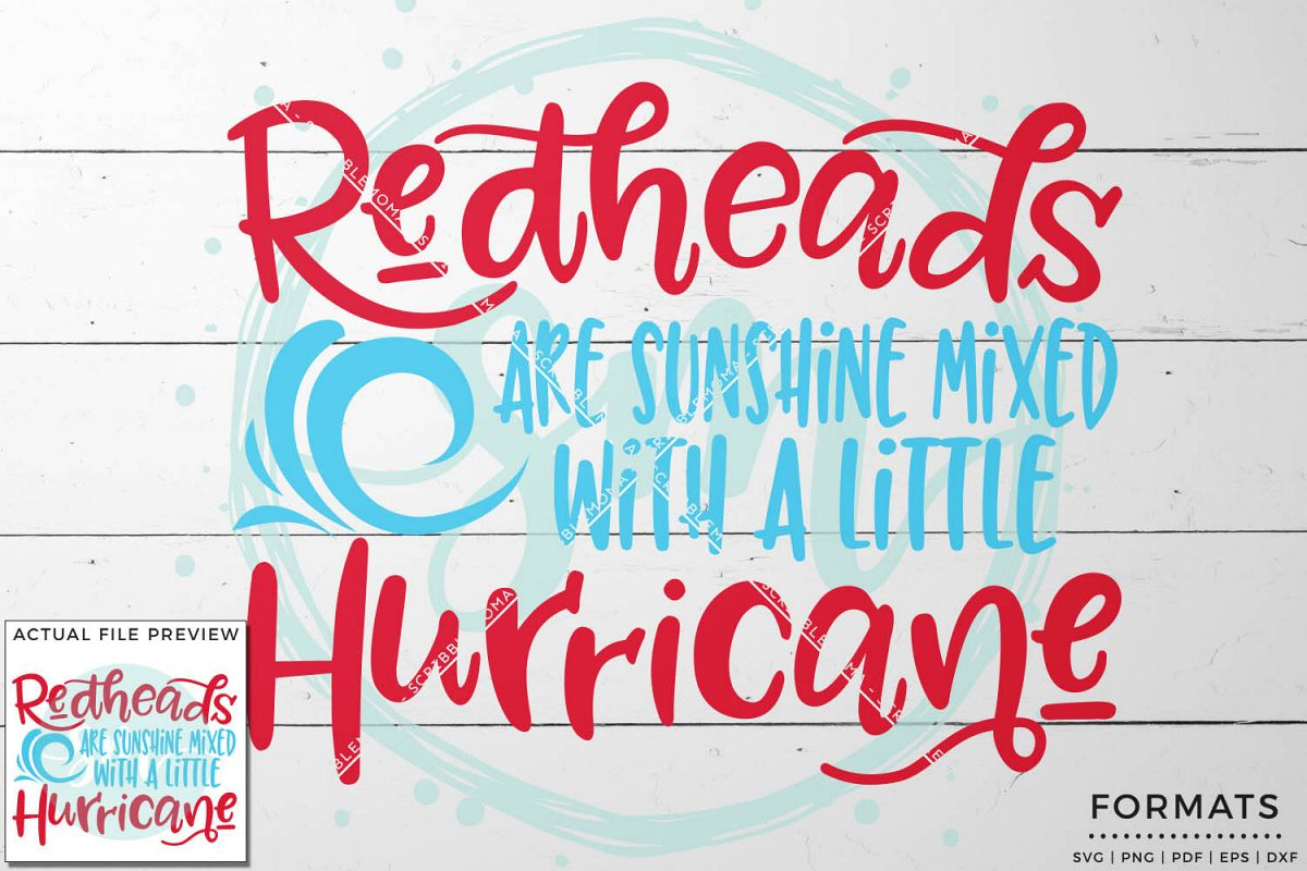 Redheads & Hurricanes SVG Files for Cricut example image 1