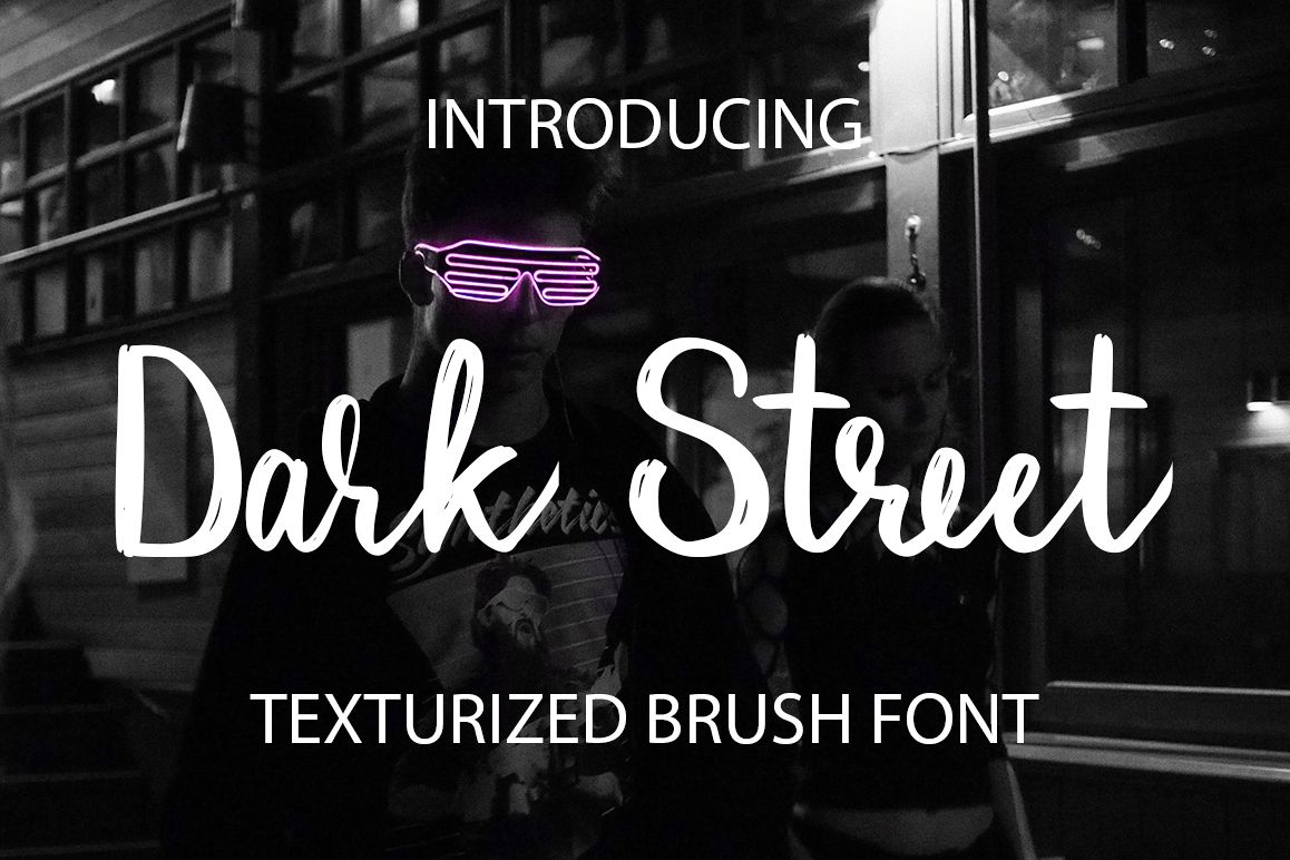 Dark Street - script font example image 1