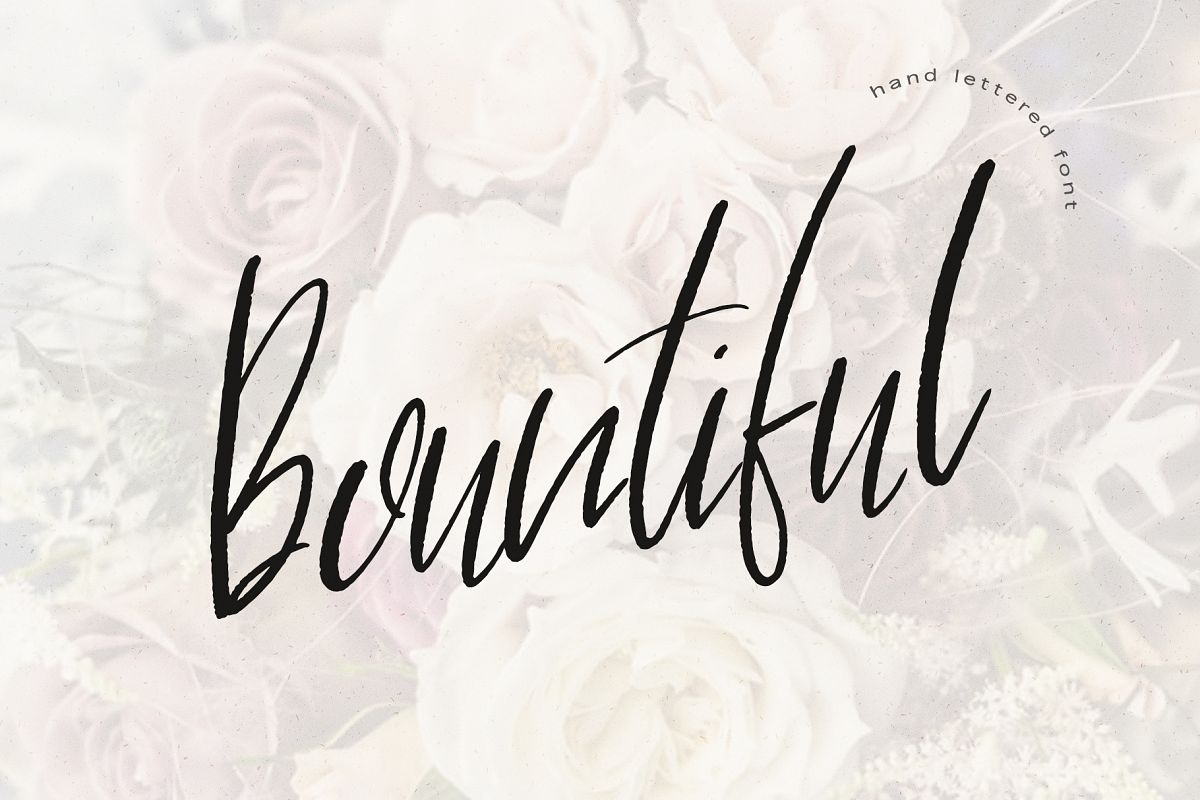 Bountiful Hand lettered. font example image 1