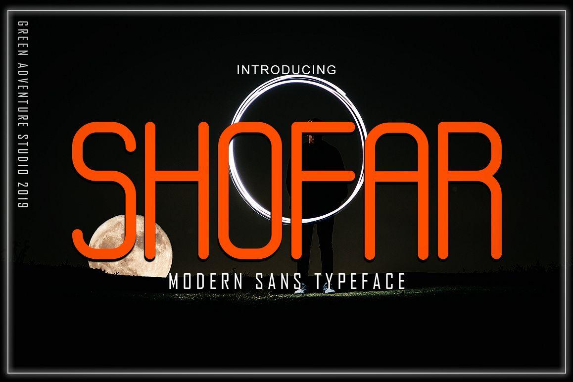 SHOFAR - MODERN SANS TYPEFACE example image 1