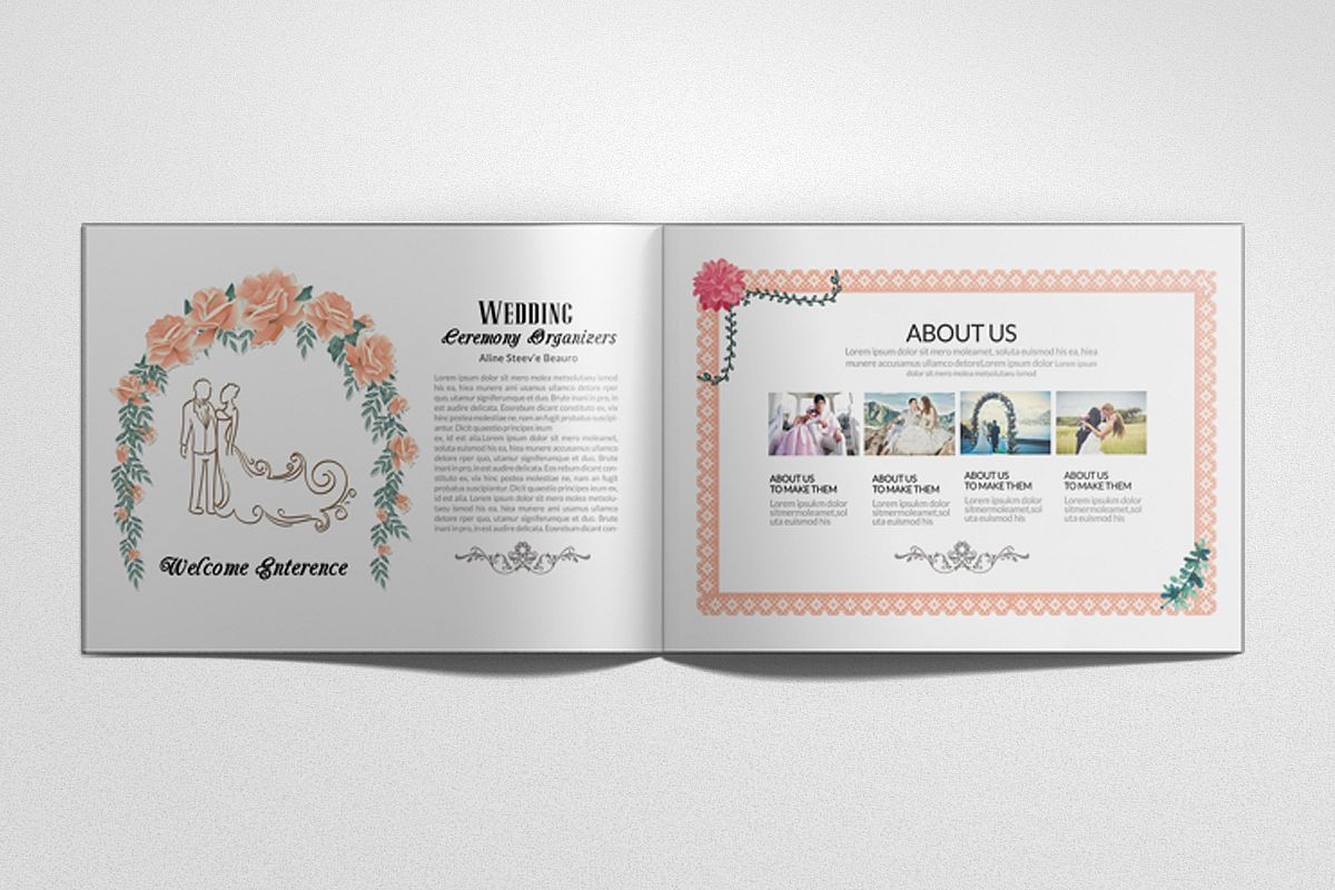 Wedding Planner Square Bifold Brochure example image 1