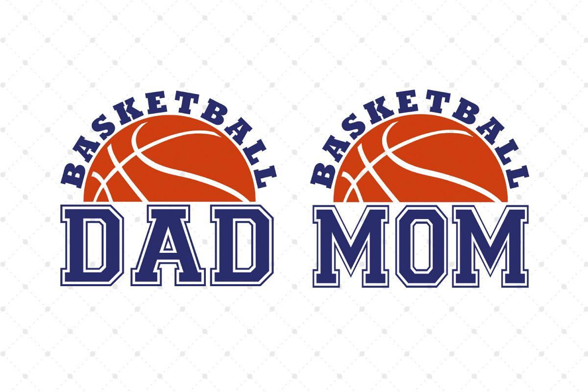 Basketball Dad SVG, Basketball Mom SVG Cut Files example image 1